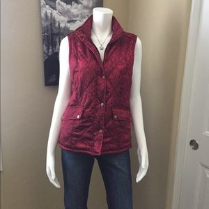 Peck & Peck Red Puffy Vest!